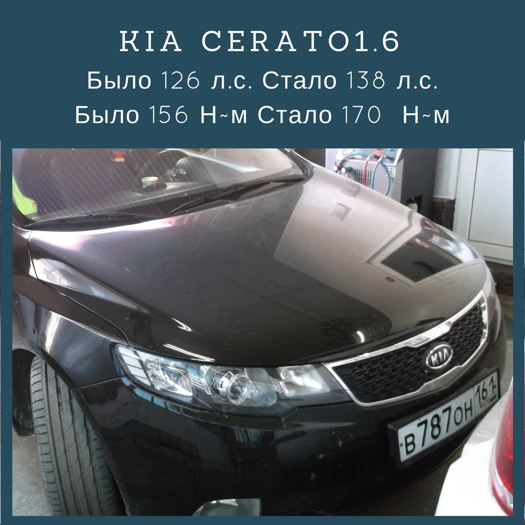 Чип-тюнинг Kia Cerato от G-garage.