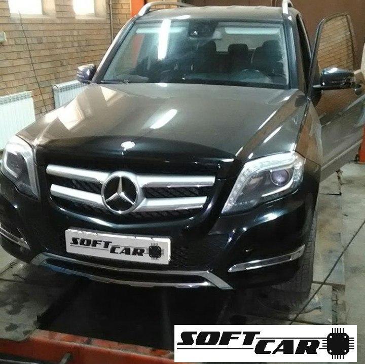Отключение EGR , контроля сажевого фильтра и увеличение мощности со 170 до 230 л.с. на Mercedes-Benz GLK 2,2 дизель 2013 г.
