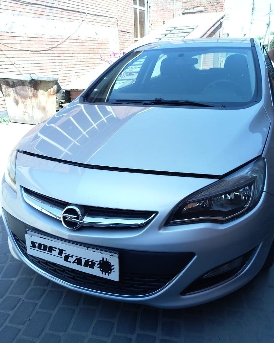 Чип-тюнинг Opel Astra 2013 года выпуска